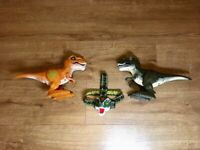 Bundle 2x excellent cond 'Robo Alive' T-Rex toys, 1 x flashing head torch, £12 for whole bundle.