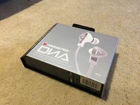 Monster DNA In-Ear ControlTalk Headset - Satin Chrome/White