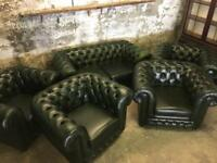 Thomas Lloyd Leather Chesterfield Suite