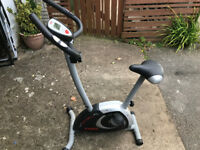 York Fitness exercise bike with heart monitor.