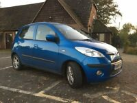 Blue Hyundai i10 for sale, perfect first car