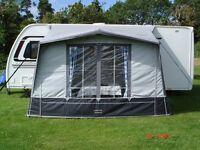 "Caravan awning.Kensington Elite By Quest.359cm x 220cm = 11'6"" x 7'3"" Blue/Grey in good condition."