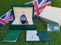 White's Watches - Brand New Rolex - All Black Sea Dweller- Rolex Boxed And Paperwork Included