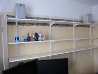 Twin Slot Shelving System Heavy Duty Adjustable Racking Shelf's, as new bargain Bristol Bs9