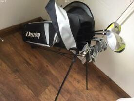 GOLF CLUBS DUNLOP FULL SET WITH TROLLEY/BAG