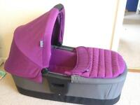 Britax affinity carrycot cool berry purple for type A fitting pushchair chassis