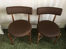 Teak upholstered Dining Chairs