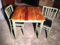 Upcycled 2 seater table and chairs