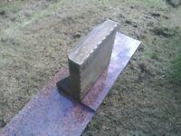 Small sandstone memorial & polished granite plinth.
