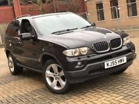 2005 BMW X5 3.0 D DIESEL AUTOMATIC BLACK 4X4 JEEP GREAT DRIVE 11 MONTHS MOT NOT QASHQAI KUGA ML X3