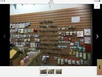 Slatwall shop retail display