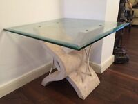 Cream Marble Coffee Table in Excellent Condition