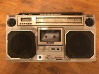 Hitachi TRK-8130E Quartz Radio Stereo Cassette Recorder - Boombox Ghettoblaster
