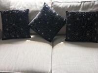 Kylie black beaded cushions £10 each