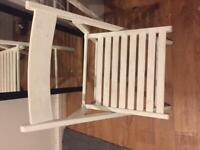 White Wooden foldable chair