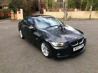2008 BMW 335D M SPORT COUPE BLACK RED LEATHERS XENONS F1