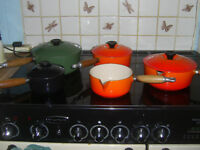 Le Creuset saucepans - 5 in total - Mixed colours / sizes