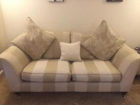 3 seater 2 seater chair and foot stool with storage