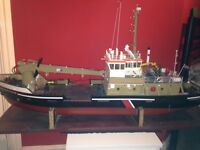 Rc Model Boat Fitted with Motor Built to High Standard