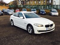 2012 BMW 520d saloon white diesel***high miles**one company owner**AA REPORT