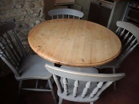 Solid Pine Painted Table and Chairs