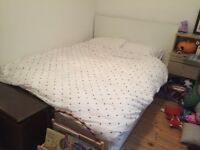Ikea malm double white bed - must go asap