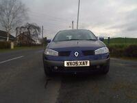 2005 renault megane 1.6 petrol dynamic 5 dr m/blue good condition L/owner full mot L/ins tx