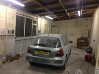 Car painter garage