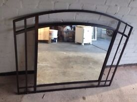XL Heavy Black Wrought Iron Mirror