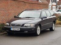 Volvo V70 2.4 Estate (2001/Y Reg) + LHD LEFT HAND DRIVE + UK REG + 1 OWNER BRAND NEW + FSH+HIGH SPEC