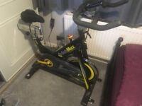Bodymax B15 Studio Indoor Cycle Exercise Bike (Black) With LCD Monitor