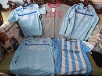 Coventry City Kits (Tops Only, Juvenile Sizes) : PRICE IS FOR BOTH, NOT EACH!