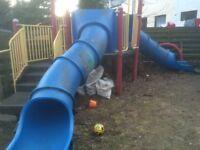 Heavy duty kids slides and frame
