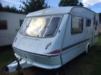 Caravan 4/5/6 berth Elddis Cyclone GT 1995 fantastic condition *awning available