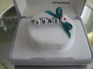 """ATTRACTIVE LITTLE BROOCH Made Especially for """"JUNE"""""""