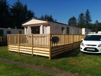 STATIC CARAVAN FOR SALE SITED AT NEWTON STEWART QUIET SITE PET FRIENDLY FEES PAID 2018