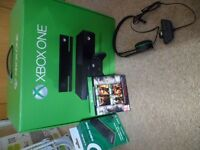 Xbox One Console with Controller & Kinect, Free Headset & Docking Station & 4 Games.