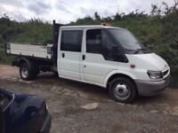 FORD TRANSIT CREW CAB TIPPER TRUCK TRUCK MOT ANY TRIAL WELCOME