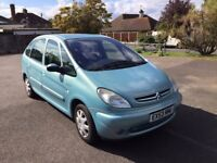 citreon picasso 1.6 petrol, manual, years mot, no faults, need gone asap, £550 ono