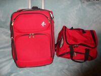 Atlantic Suitcase and Travel Bag In Red