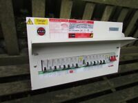 WYLEX FUSE BOX Consumer Unit. 14 WAY. 2 RCD 80 amp. 2 main switches.