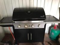 Gas 4 burner BBQ with hob