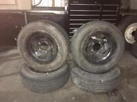 4x wheels and tyres from suzuki vitara 215/60/15