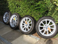 4x GENUINE OEM BMW 18 Alloy Wheels Dunlop Winter Tyres F10 F11 F12 F13 281 Style