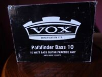 Vox Pathfinder 10 bass practice amp in mint condition.