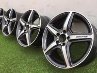 "17"" Mercedes AMG wheels PCD 5x112 mint condition"