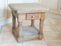 small pine side table