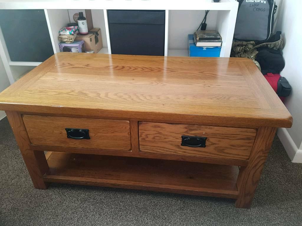 Rustic Oak Coffee Table In Plymouth Devon Gumtree