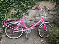 Folding bike. (Project) Sparkly Pink. Old Italian frame.