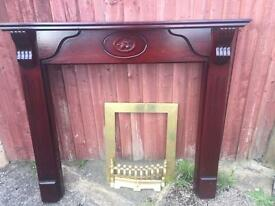 LOVELY FIRE SUROUND AND BRASS FITMENTS
